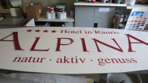 Folienbeschichtung Hotel Alpina, Rauris