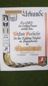 Urkunde - Stefanie Daxbacher