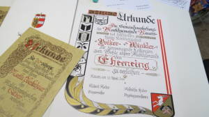 Urkunden Beschriftung